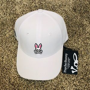 Psycho Bunny by Robert Godley White Cap NWT